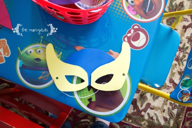 Super Hero Comic Book Birthday Party Mask Craft Station | Five Marigolds