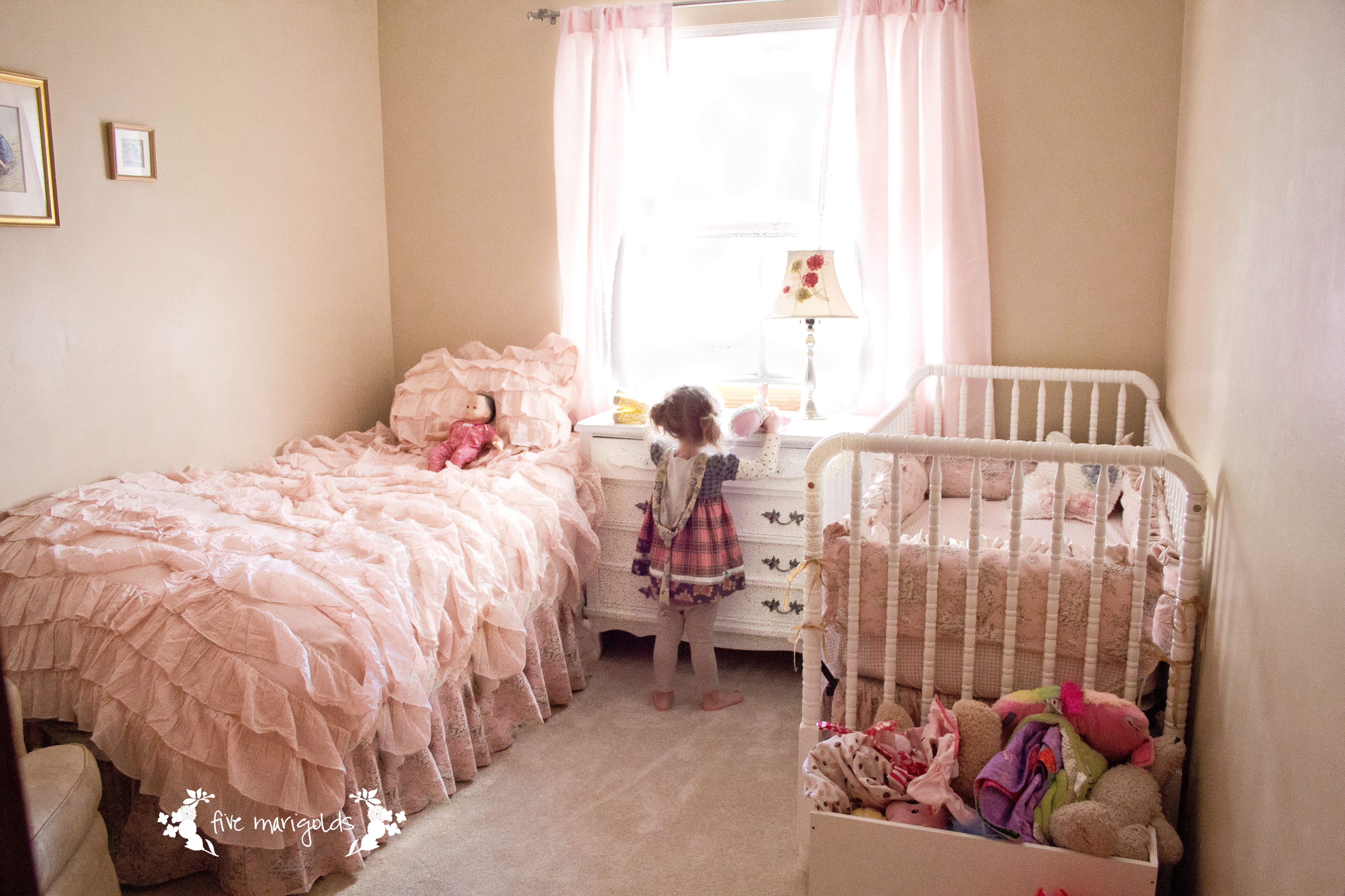 Very Small Spaces Shared Girl Room Five Marigolds