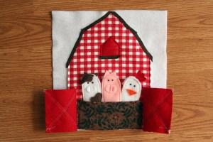 Activity Quiet Book Barn Animals Finger Puppets | Five Marigolds