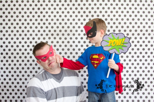 Super Hero Comic Book Photo Booth | Five Marigolds