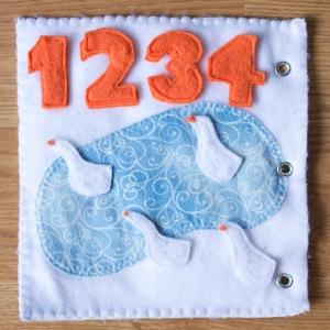 Number Counting Duck Pond Quiet Activity book | Five Marigolds