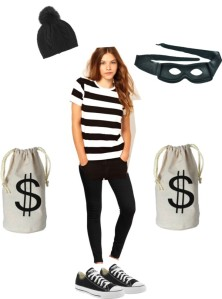 Shop your closet for these 5 Halloween Costumes on a budget Bank Robber | Five Marigolds