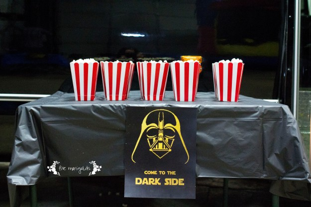 Star Wars Birthday Party Dark Side Movie Theater | Five Marigolds