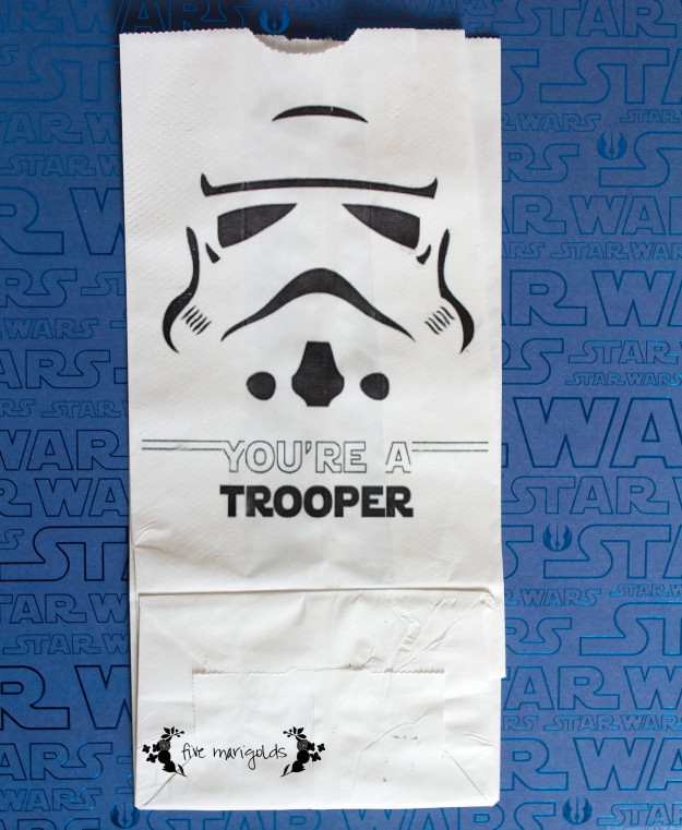 Star Wars Storm Trooper Favor Bags | Five Marigolds