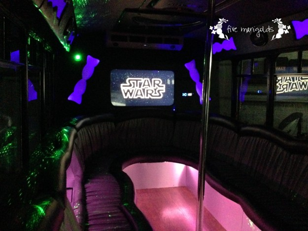 Star Wars Birthday Party Dark Side Movie Theater Party Bus | Five Marigolds