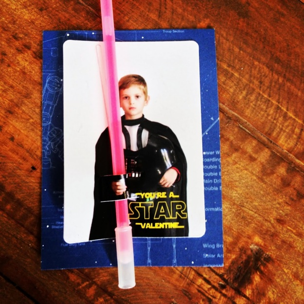 Star Wars Darth Vader Valentine | Five Marigolds