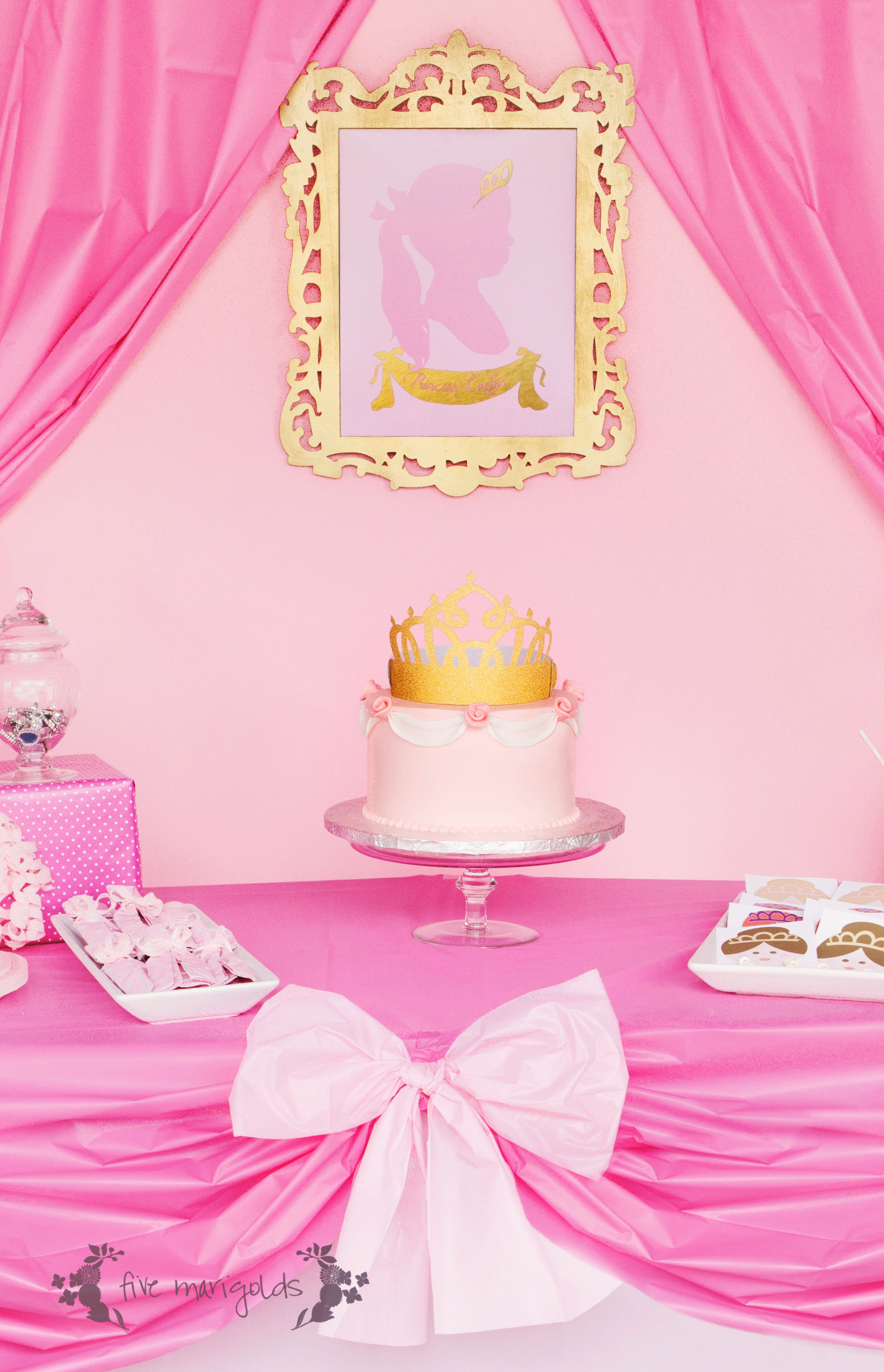Complete Pink Princess Party for Less than $20 - Five Marigolds
