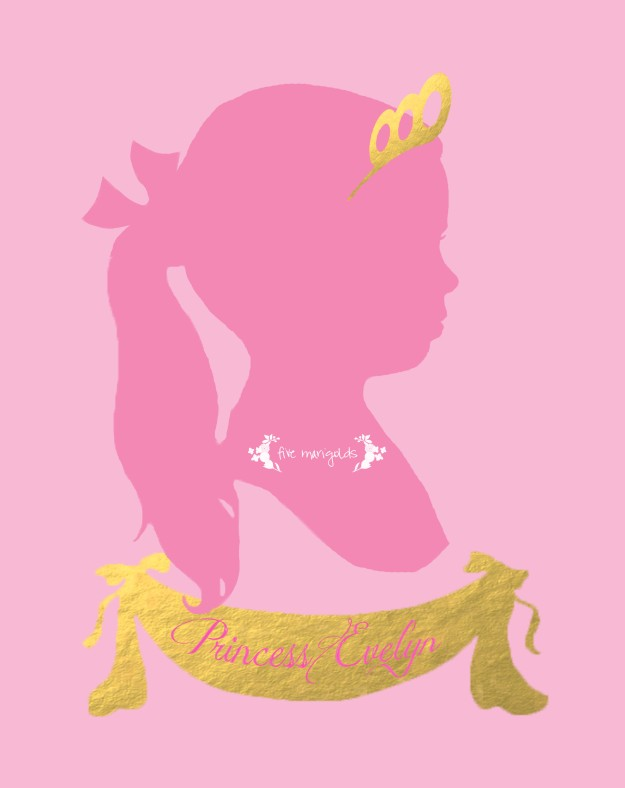 Princess Silhouette | Five Marigolds