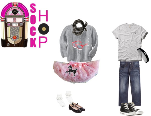 Shop your kids' closets for Halloween Costumes 50's Sock Hop | Five Marigolds