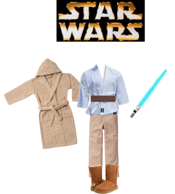 Shop your kids' closets for Halloween - Star Wars Jedi Luke Skywalker| Five Marigolds