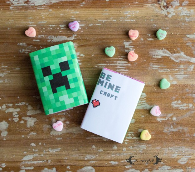 Be Minecraft Free Printable Valentine | Five Marigolds