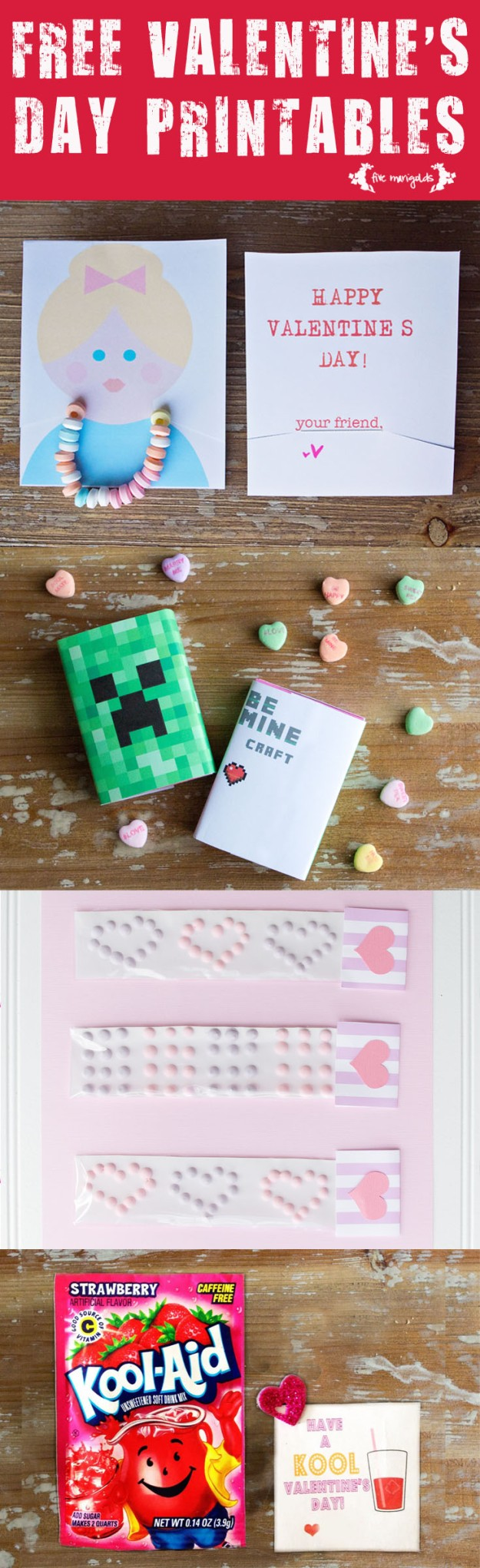 Free Valentine's Day Printables | Five Mariolds
