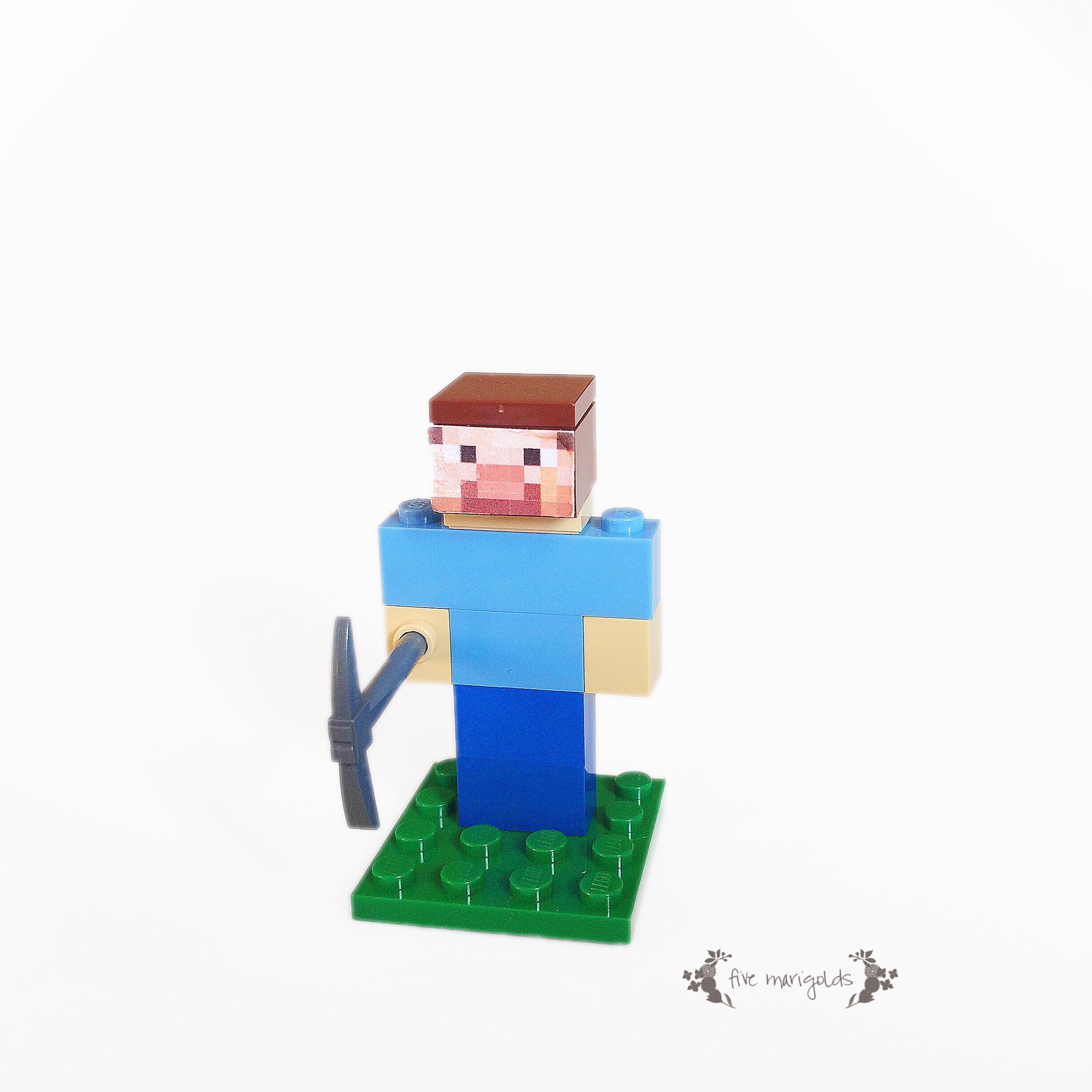 Minecraft Steve Lego Favor | Five Marigolds