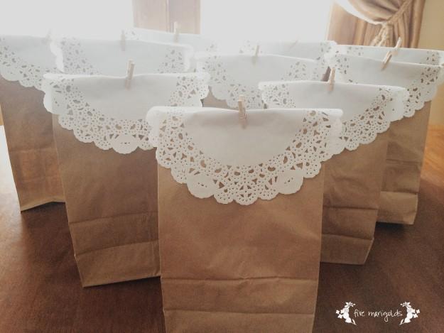 Paper Bag Party Favors | Five Marigolds