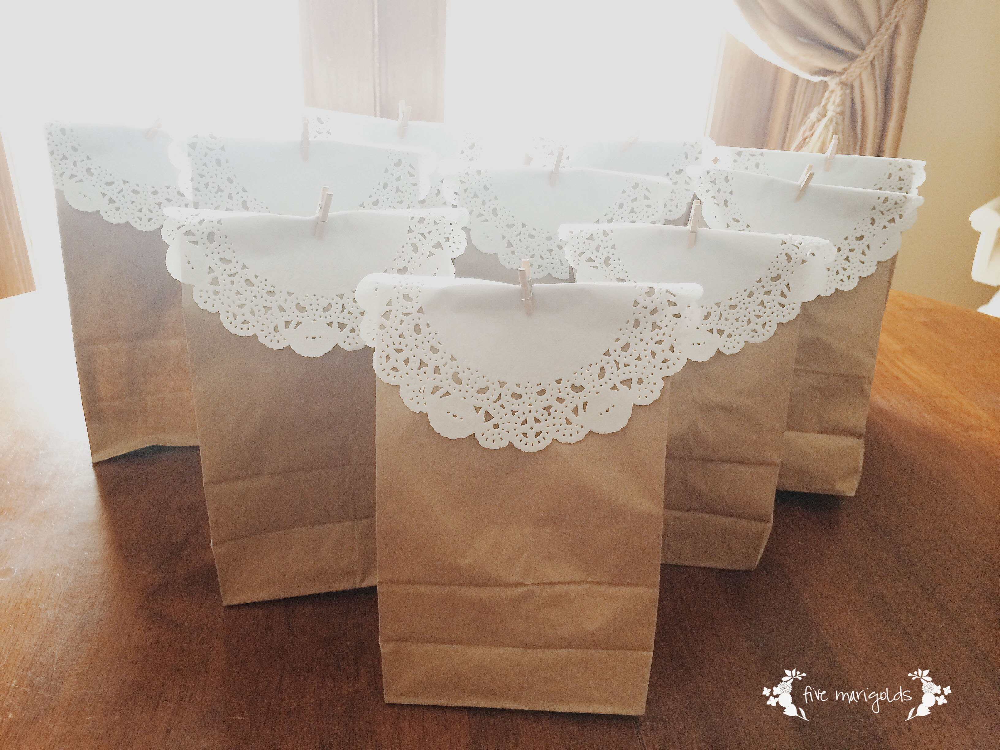Paper Bag Party Favors | Five Marigolds