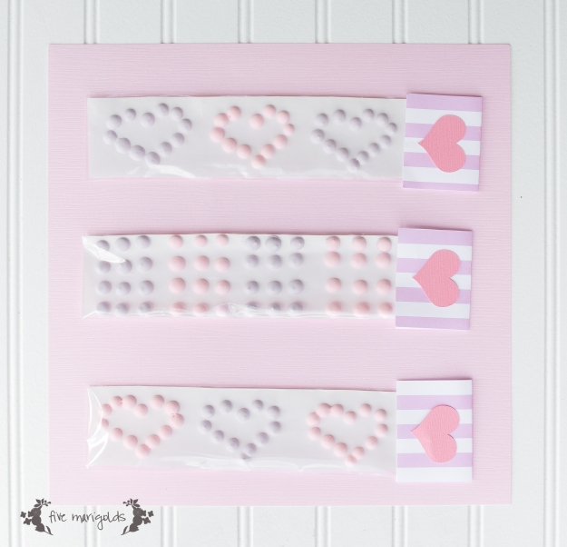 Valentine Candy Buttons | Five Marigolds