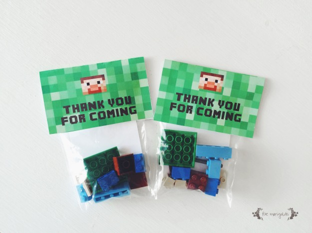 Minecraft Lego Steve Favors | Five Marigolds