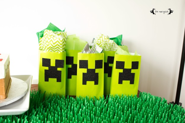 Minecraft Birthday Party Favors | Five Marigolds