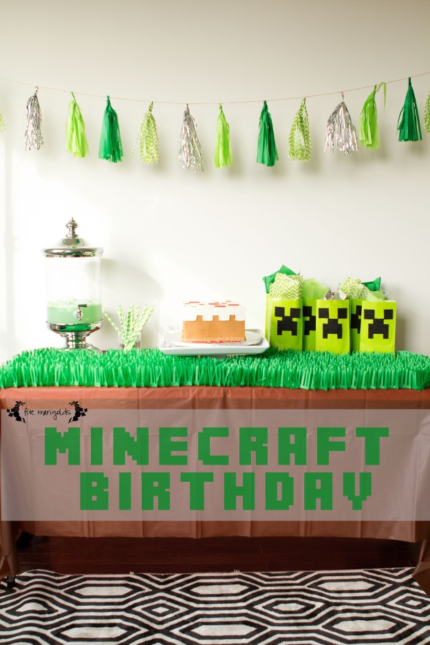 Minecraft Birthday Party | Five Marigolds