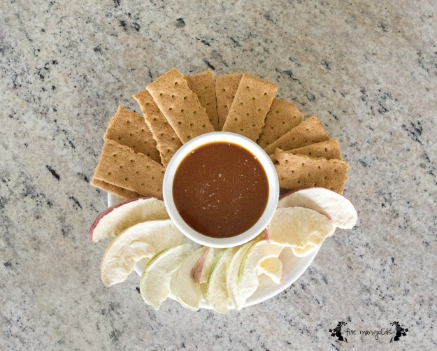 Salted Caramel Dip with Dried Apples | Five Marigolds