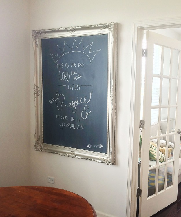DIY Chalkboard Art using Rust-Oleum Chalkboard Paint | Five Marigolds