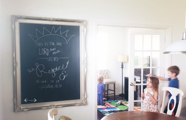 DIY Chalkboard Art | Five Marigolds