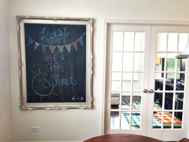 DIY Chalkboard Art with Rust-Oleum Chalkboard Paint | Five Marigolds