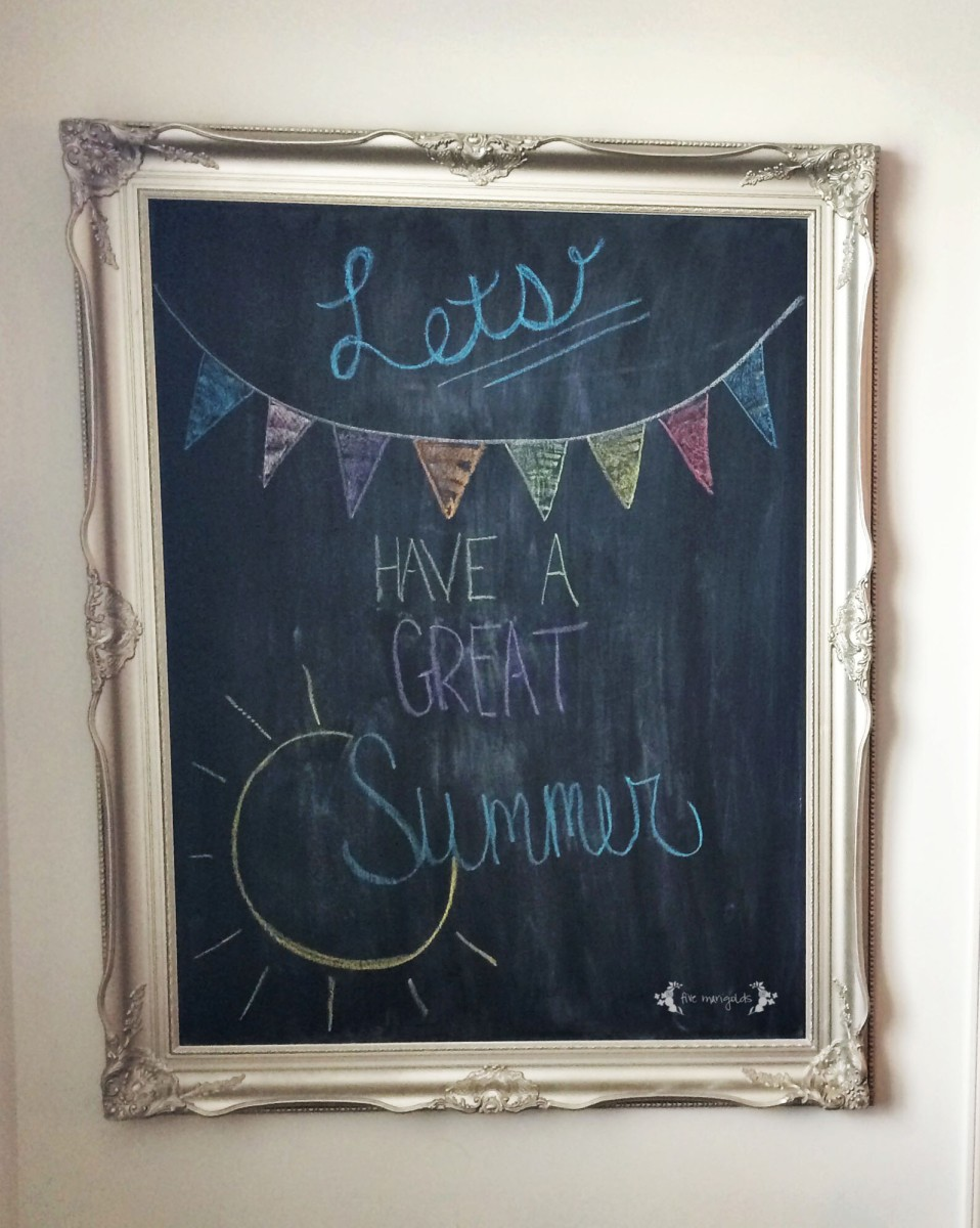 Diy chalkboard art with rust oleum chalkboard paint five for Diy chalk paint problems