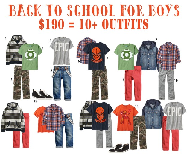 Back to School Wardrobe for Boys On a Budget | Five Marigolds #BTS