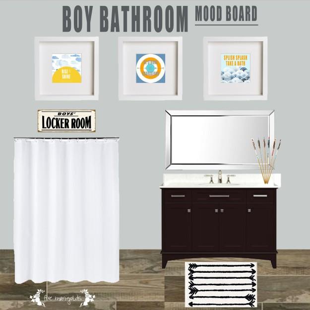 Boys Bathroom Mood Board | Five Marigolds