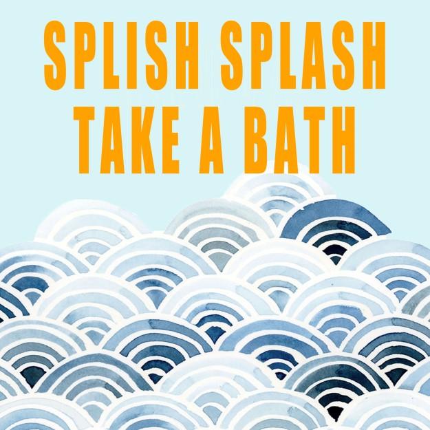 Splish Splash Take a Bath artwork for IKEA Ribba Frame | Five Marigolds