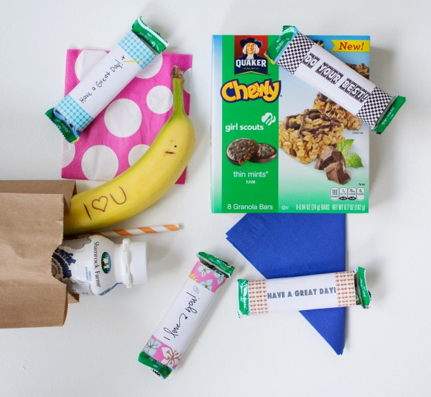 Back To School Granola Bar Wraps Free Printable | Five Marigolds