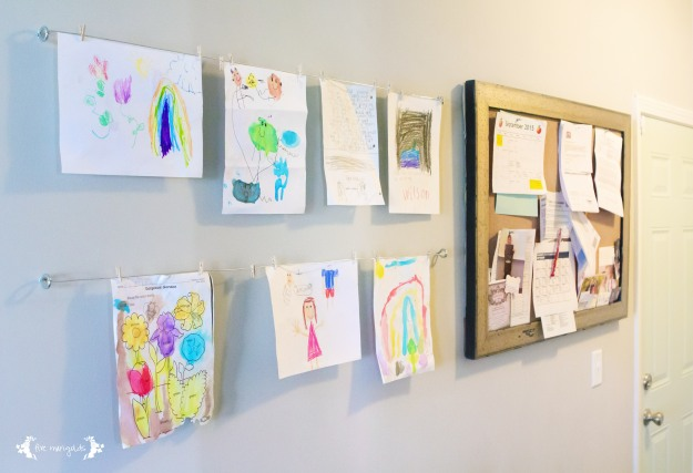 Children's Art Display Less than $5  |  Five Marigolds