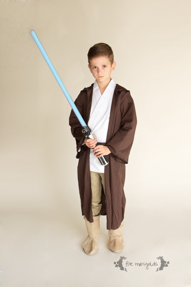 Shop Your Kids' Closet for Halloween Costumes | Jedi Luke SkyWalker Star Wars | Five Marigolds