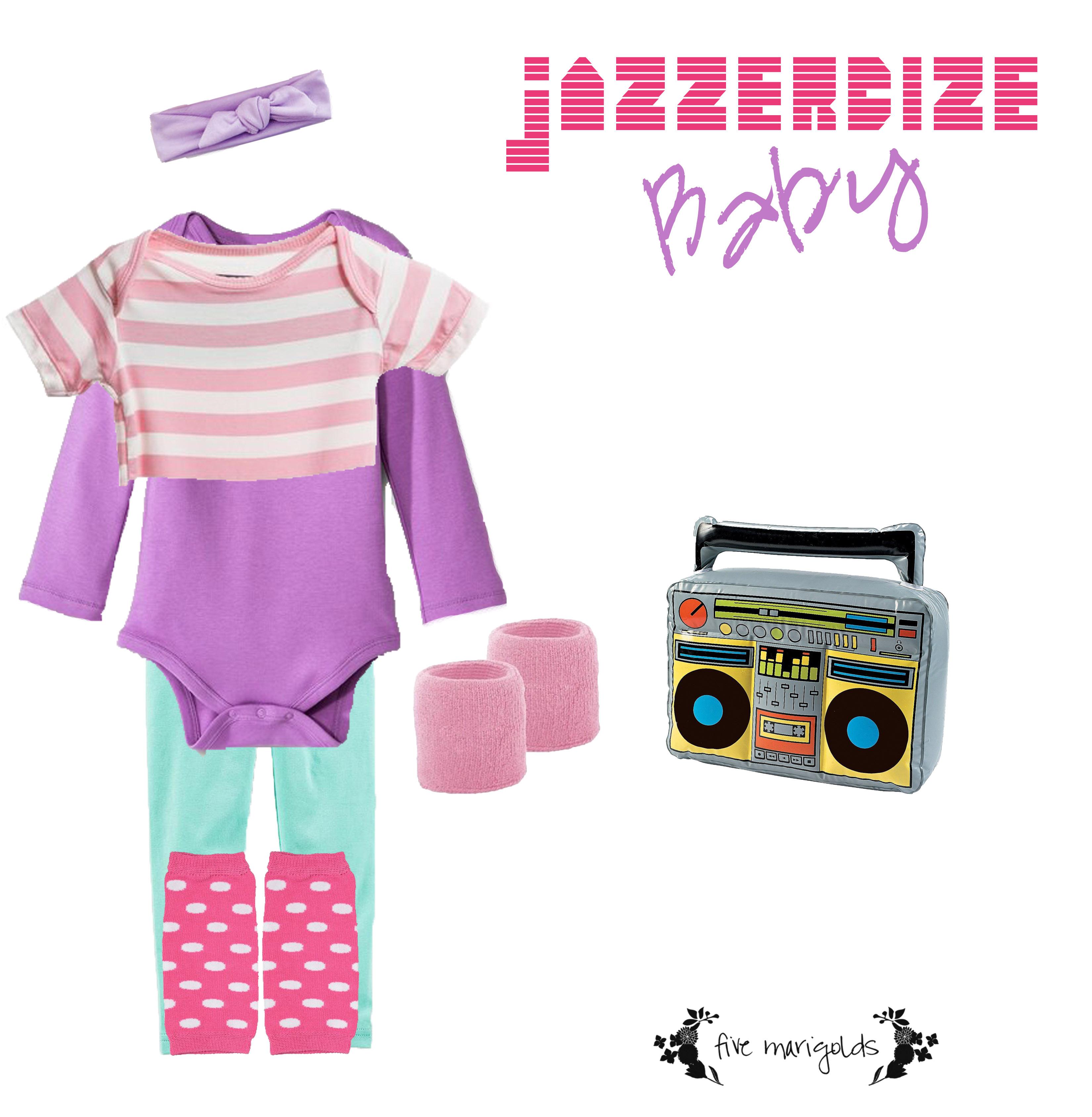 Shop your Kids' Closets for Halloween | Baby Jazzercize Jane Fonda | Five Marigolds