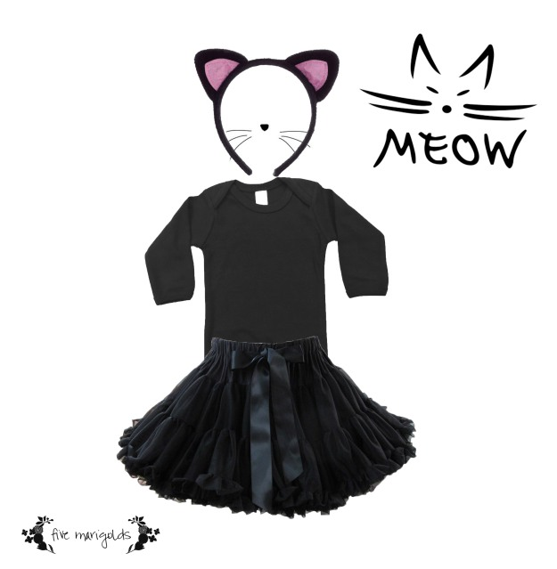 Shop your Kids' Closets for Halloween | Baby Kitty Cat | Five Marigolds